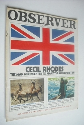 <!--1970-04-19-->The Observer magazine - Cecil Rhodes cover (19 April 1970)