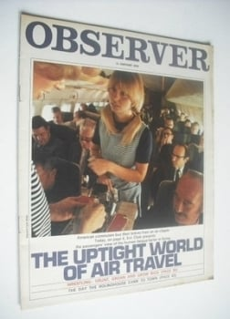 <!--1970-01-11-->The Observer magazine - The Uptight World Of Air Travel cover (11 January 1970)