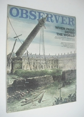 <!--1971-03-14-->The Observer magazine - When Paris Defied The World (14 Ma