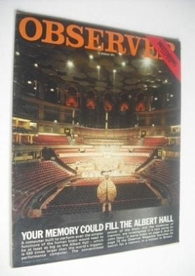 <!--197-03-21-->The Observer - Your Memory Could Fill The Albert Hall cover