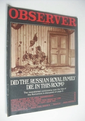 <!--1971-03-07-->The Observer magazine - The Romanovs cover (7 March 1971)