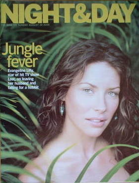 Night & Day magazine - Evangeline Lilly cover (28 August 2005)