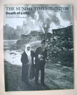 <!--1976-02-22-->The Sunday Times magazine - Death Of A City cover (22 Febr