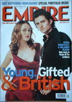 <!--2003-09-->Empire magazine - Keira Knightley & Orlando Bloom cover (Sept