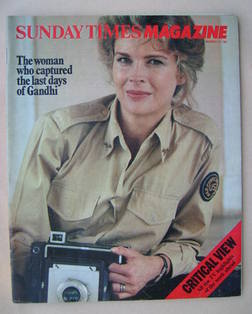 <!--1982-11-21-->The Sunday Times magazine - Candice Bergen cover (21 Novem