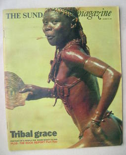 <!--1975-10-12-->The Sunday Times magazine - Tribal Grace cover (12 October