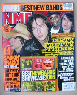 <!--2006-04-01-->NME magazine - Dirty Pretty Things cover (1 April 2006)