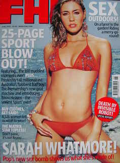 <!--2003-06-->FHM magazine - Sarah Whatmore cover (June 2003)