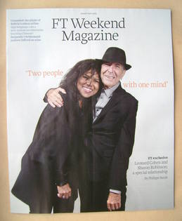 FT Weekend magazine - Leonard Cohen and Sharon Robinson cover (10/11 August 2013)