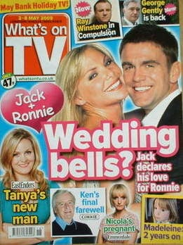 What's On TV magazine - Samantha Janus and Scott Maslen cover (2-8 May 2009)
