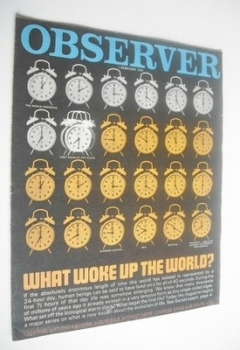 The Observer magazine - What Woke Up The World cover (1 February 1970)