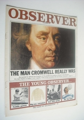 <!--1970-08-30-->The Observer magazine - Oliver Cromwell cover (30 August 1