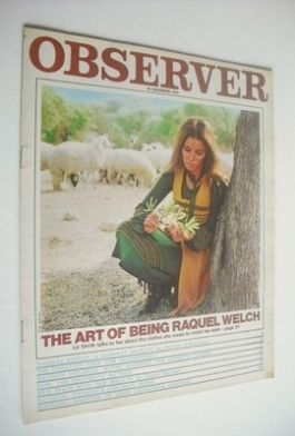 <!--1970-12-20-->The Observer magazine - Raquel Welch cover (20 December 19