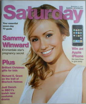 Saturday magazine - Sammy Winward cover (17 November 2007)