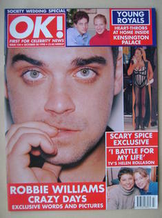 <!--1998-10-30-->OK! magazine - Robbie Williams cover (30 October 1998 - Is