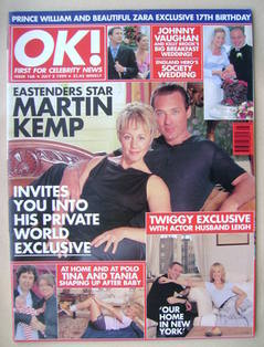 <!--1999-07-02-->OK! magazine - Martin Kemp and Shirlie Kemp cover (2 July