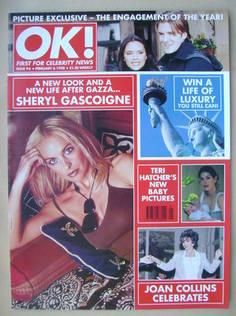 <!--1998-02-06-->OK! magazine - Sheryl Gascoigne cover (6 February 1998 - I