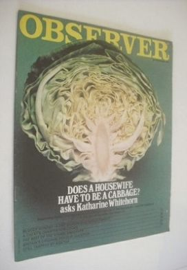 <!--1970-11-22-->The Observer magazine - Cabbage cover (22 November 1970)
