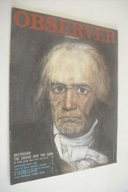 <!--1970-11-29-->The Observer magazine - Ludwig van Beethoven cover (29 Nov