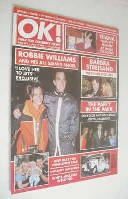 <!--1998-07-17-->OK! magazine - Robbie Williams cover (17 July 1998 - Issue