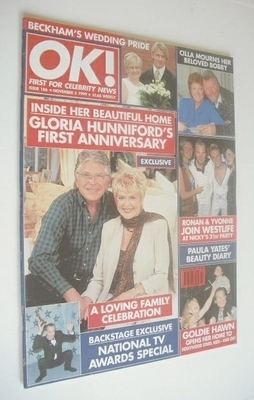 <!--1999-11-05-->OK! magazine - Gloria Hunniford cover (5 November 1999 - I