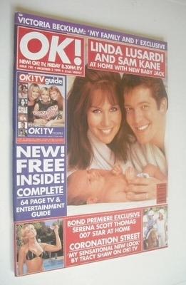 <!--1999-12-03-->OK! magazine - Linda Lusardi and Sam Kane cover (3 Decembe