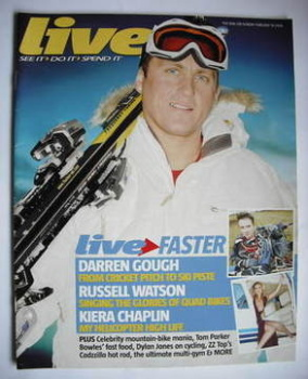Live magazine - Darren Gough cover (19 February 2006)