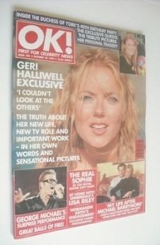 OK! magazine - Geri Halliwell cover (22 October 1999 - Issue 184)