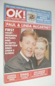 OK! magazine - Linda and Paul McCartney cover (6 March 1998 - Issue 100)