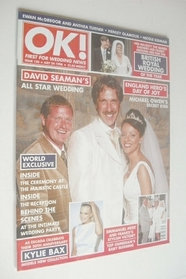 <!--1998-07-24-->OK! magazine - David Seaman wedding cover (24 July 1998 -