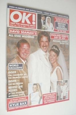<!--1998-07-24-->OK! magazine - David Seaman wedding cover (24 July 1998 -