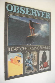The Observer magazine - The Art Of Enjoying Summer cover (3 August 1969)