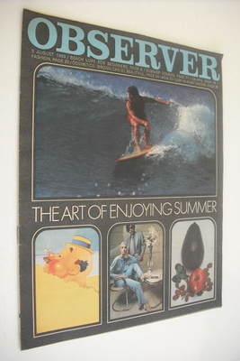 <!--1969-08-03-->The Observer magazine - The Art Of Enjoying Summer cover (