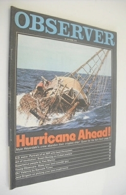 <!--1970-10-25-->The Observer magazine - Hurricane Ahead cover (25 October