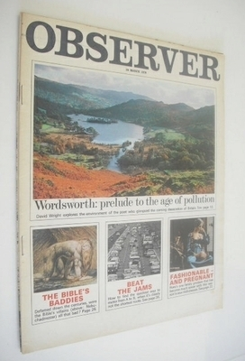 <!--1970-03-29-->The Observer magazine - Wordsworth cover (29 March 1970)