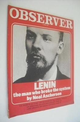 <!--1970-04-05-->The Observer magazine - Lenin cover (5 April 1970)