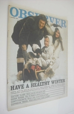 <!--1970-10-04-->The Observer magazine - Have A Healthy Winter cover (4 Oct