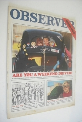 <!--1970-03-22-->The Observer magazine - Are You A Weekend Driver cover (22