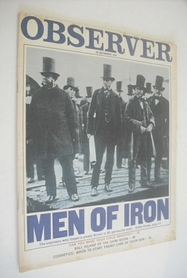 <!--1970-09-20-->The Observer magazine - Men Of Iron cover (20 September 19