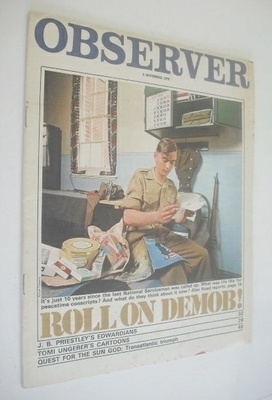 <!--1970-11-08-->The Observer magazine - Roll On Demob cover (8 November 19