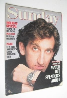 <!--1992-01-05-->Sunday magazine - 5 January 1992 - Jimmy Nail cover