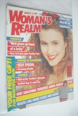 <!--1990-03-13-->Woman's Realm magazine (13 March 1990 - Vintage Issue)