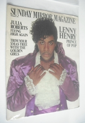 <!--1991-12-08-->Sunday Mirror magazine - Lenny Henry cover (8 December 199