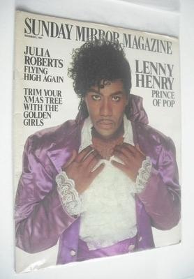 <!--1991-12-08-->Sunday Mirror magazine - Lenny Henry cover (8 December 199