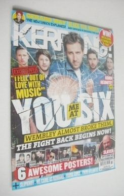 <!--2013-08-10-->Kerrang magazine - You Me At Six cover (10 August 2013 - I