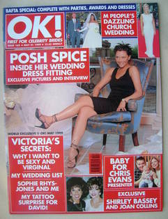 <!--1999-05-21-->OK! magazine - Victoria Adams cover (21 May 1999 - Issue 1