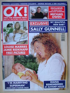 <!--1998-07-10-->OK! magazine - Sally Gunnell cover (10 July 1998 - Issue 1