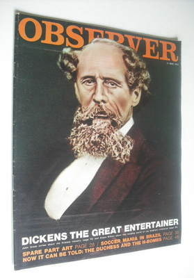 <!--1970-05-17-->The Observer magazine - Charles Dickens cover (17 May 1970