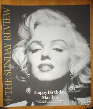 The Sunday Review magazine - Marilyn Monroe cover