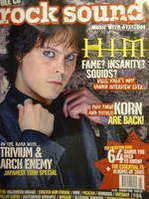 Rock Sound magazine - HIM Ville Valo cover (January 2006)